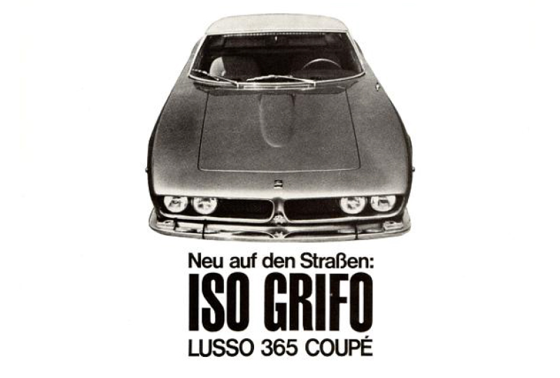werbeprospekt iso grifo von auto becker d sseldorf iso bizzarrini club deutschland e v. Black Bedroom Furniture Sets. Home Design Ideas